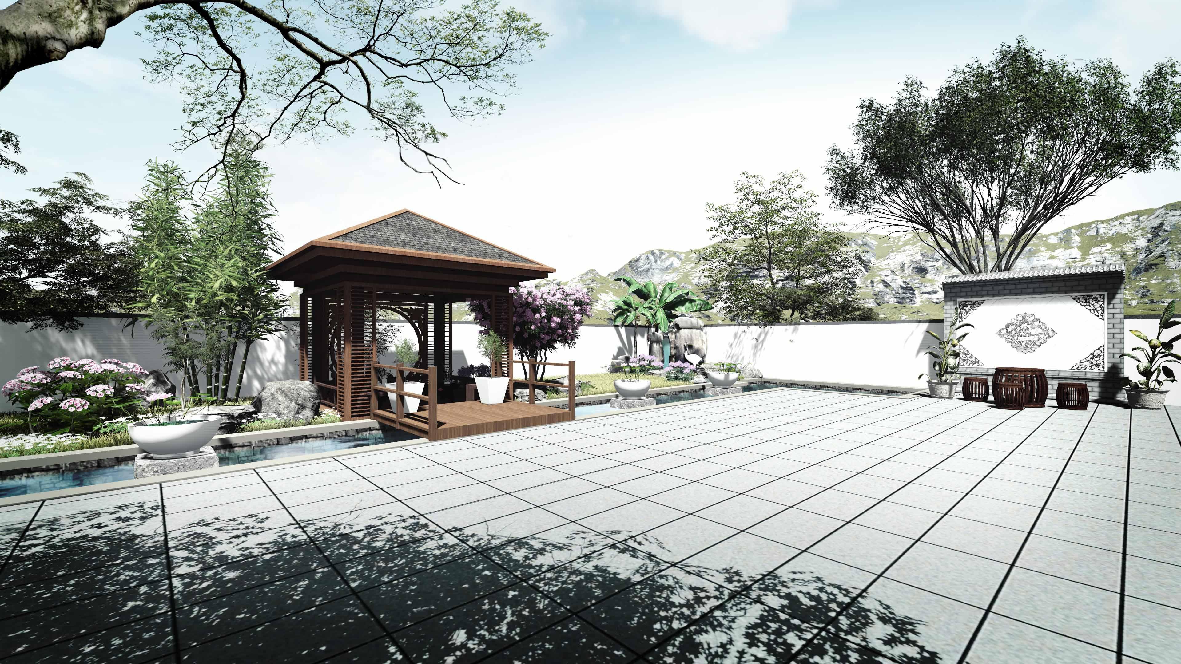 """公司承接庭院花园景观升级改造设计业务,""""专业,专注,博采,创新"""",把您"""
