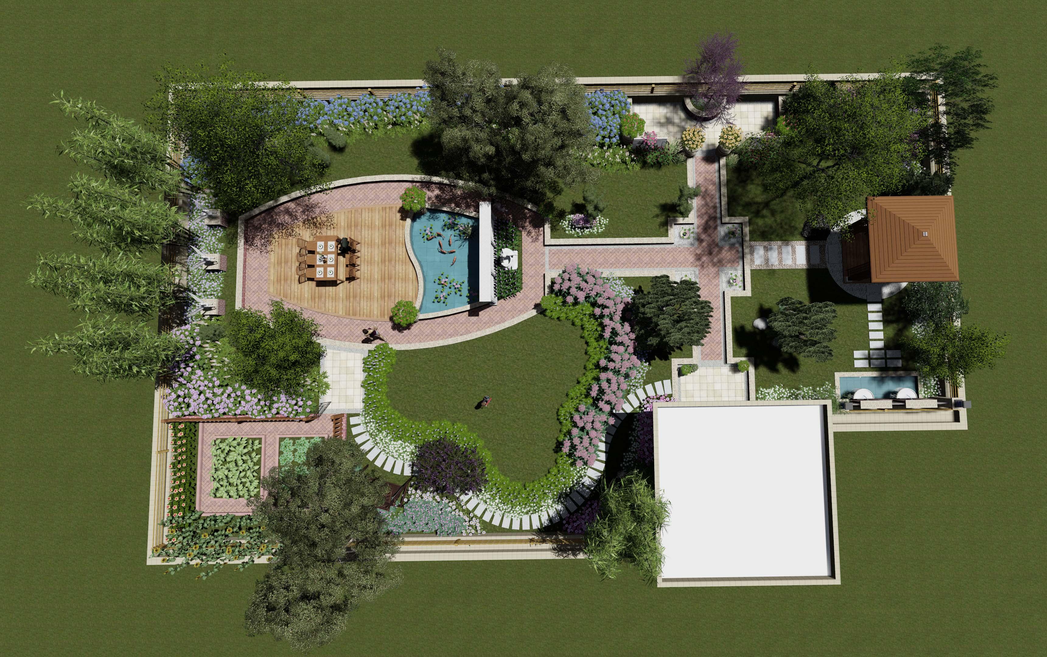 屋顶花园设计_园林景观设计|别墅花园设计|屋顶花园