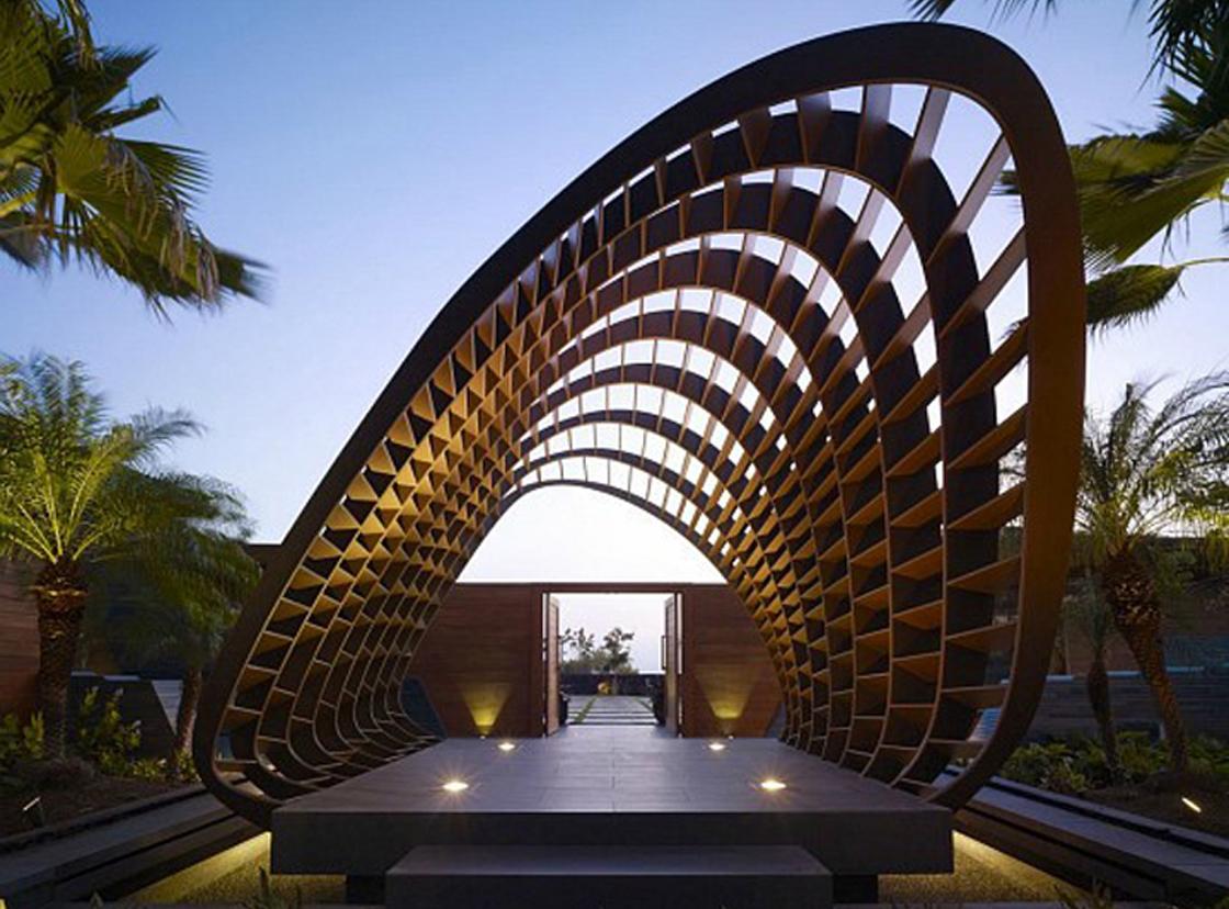 案例展示_景观案例_廊架_园林景观设计|别墅花园设计|阳台花园设计